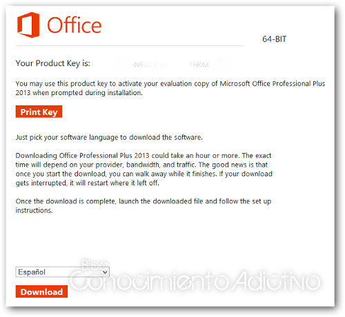 Descargar office 2013 64 bits